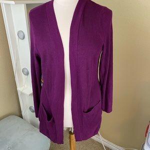 NWT 2X Torrid Cardigan in Purple - pockets